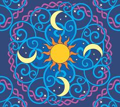 sun moon mandala vector clipart image free stock photo