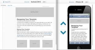 outlook 2013 design email newsletter design considerations goldmine success