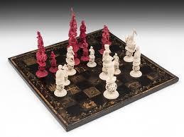 chinese napoleonic ivory chess set c 1820 united kingdom from