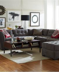 Traditional Sectional Sofas With Chaise Roxanne Fabric 6 Piece Modular Sectional Sofa 2 Corner Units 3