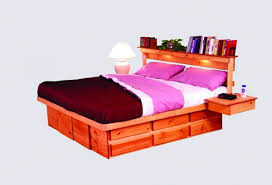 headboard with built in bedside tables bed with side tables attached headboards with built in side tables