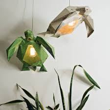 diy papercraft light shades of aquatic life by vasili colossal