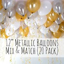 metallic balloons 12 metallic balloons 20 pack mix and match set select