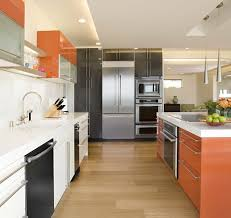 frameless european cabinets kitchen contemporary with mixed color