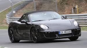 porsche boxster rally car porsche boxster cayman and 911 cabrio turbo spied together in