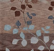 Area Rugs Modern Contempory Area Rugs Square Brown Blue Leaf Pattern Modern