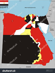 Cairo Flag Political Map Egypt Country Flag Illustration Stock Illustration