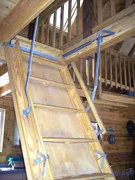 attic ladder small opening attic ladders types of attic stairs