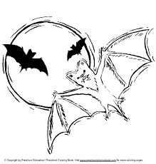 kids fun 12 coloring pages bats
