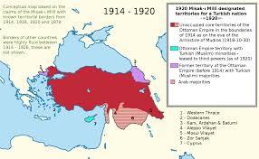 Ottoman Empire Borders Misak ı Millî