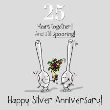25 wedding anniversary 25th wedding silver anniversary card