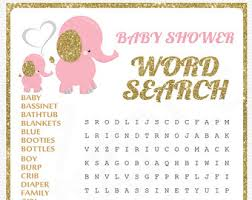 baby shower word search printable baby shower game word
