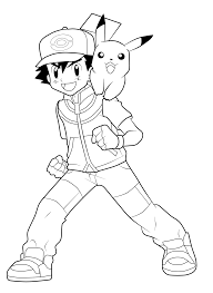 ash and pikachu lineart by imran ryo on deviantart