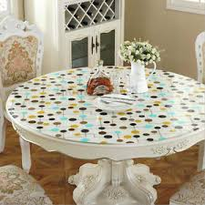 dining table cover clear round tablecloth clear soft glass pvc dining table coffee table