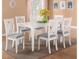 standard furniture dining room leg table with 6 chairs 18282