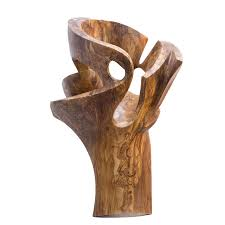 wood sculpture el beso recycled wood sculpture offcyclers