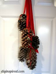 hanging pine cone decoration pine cone pine and decoration