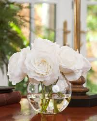 Floral Arrangements For Dining Room Tables Decoration Ideas Cozy White Silk Flower Over Squash Figure Vase