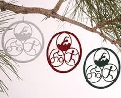 earth studio swim bike run triathlon ornaments chainwheel
