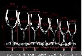 cold incision juice goblet glass bordeaux wine glass