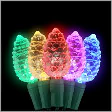 color changing c7 led pinecone shaped 25 light set leds
