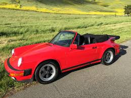 1987 porsche 911 cabriolet red black one owner rennlist
