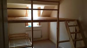 Bunk Beds Built Into Wall How To Build Loft With Desk Underneath Bedroom Built In