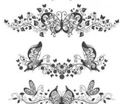 floral and butterfly patterns free vector
