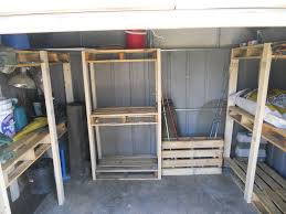 pallet palace storage shed organization system from upcycled pallets