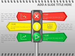 stoplight report template traffic signals a powerpoint template from presentermedia