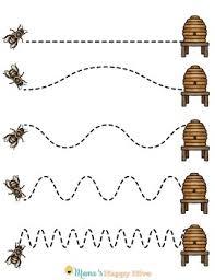 honey bee pre writing u0026 writing worksheets tpt