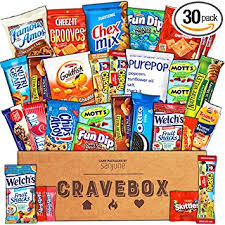 care package for sick person cravebox care package 30 count snack box variety