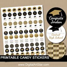 high school graduation favors personalized graduation candy stickers high school graduation