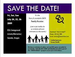 sle family reunion save the date card ideas for family