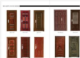 Front Door Metal Decor Exterior Doors Metal Office Furnitures Elegant Dark Brown Modern