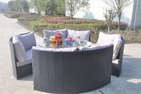 Yakoe Garden Furniture Conservatory Rattan Outdoor Garden Furniture 10 Seater Round