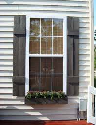 how to build a window flower box 25 inspiring outdoor window treatments exterior shutters