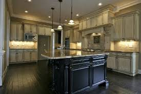 Antique White Kitchen Cabinets by Antique White Kitchen Cabinets With Dark Wood Floors Home Design
