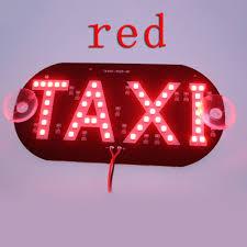 Taxi Light 1pcs Lot Taxi Led Car Windscreen Cab Indicator Lamp Sign Blue Led