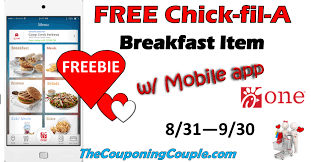 chickfila halloween free fil a breakfast item for new and current app users 8 31