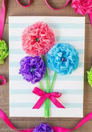 tissue paper flower bouquet canvas tissue paper flower bouquets