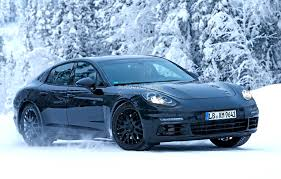 porsche car 4 door 2016 porsche panamera spied playing in the snow autoevolution