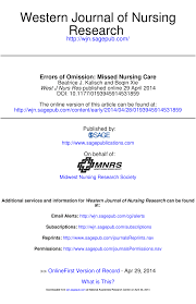 missed nursing care errors of omission pdf download available