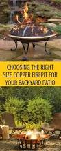 choosing the right size copper fire pit for your backyard patio