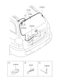 trunk lid wiring for 2003 hyundai santa fe hyundai parts deal