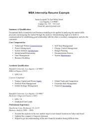 it internship resume examples mba example example cover letter