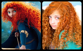 Halloween Costumes Red Hair Merida U0027s Fiery Curly Red Hair Disney Princess Hairstyles