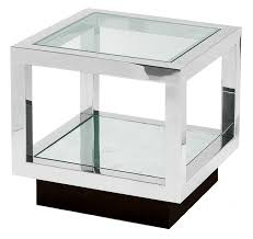 small clear glass table l infinity side table side tables furniture decorus furniture