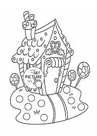 christmas sweet house coloring pages kids printable free