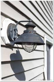 Metal Paint Exterior - outdoor light fixture makeover using metallic paint inmyownstyle com